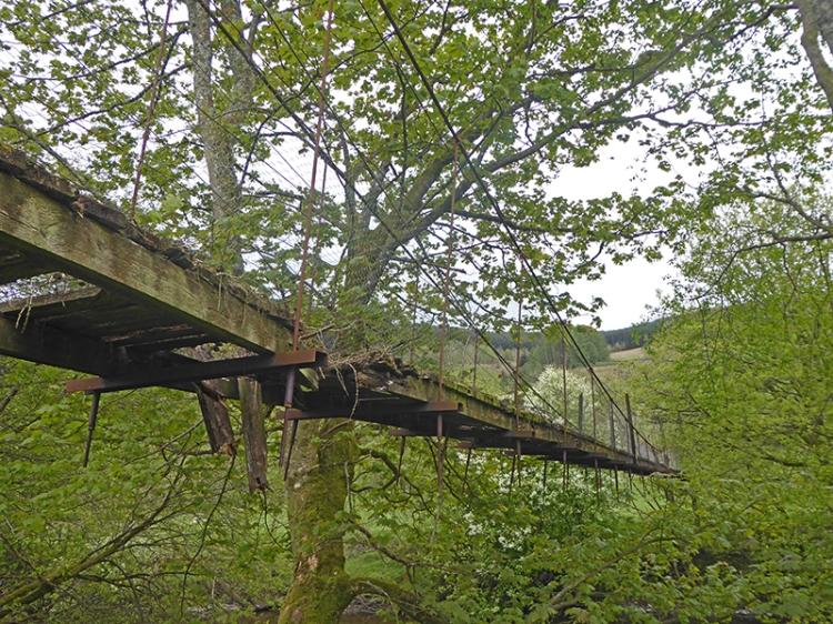 esk suspension bridge georgefield 1