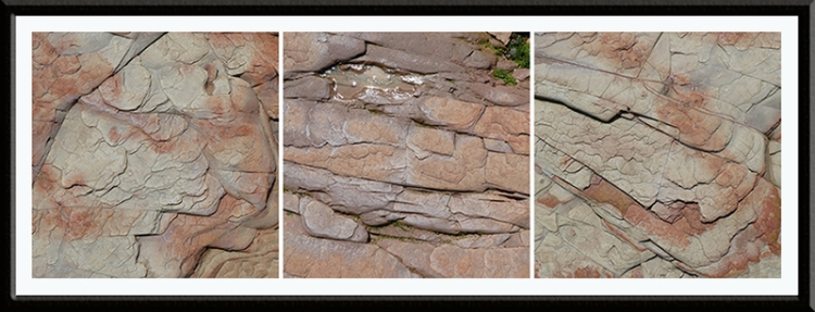 flat rocks on beach