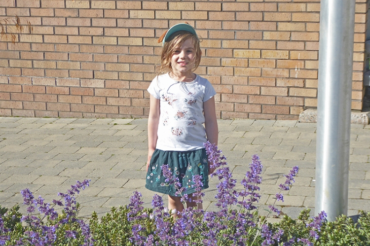 Matilda standing straight