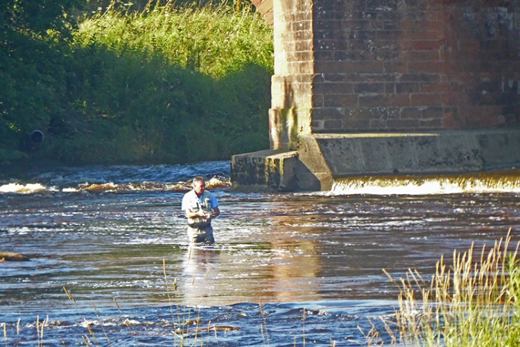 fisherman at Longtown