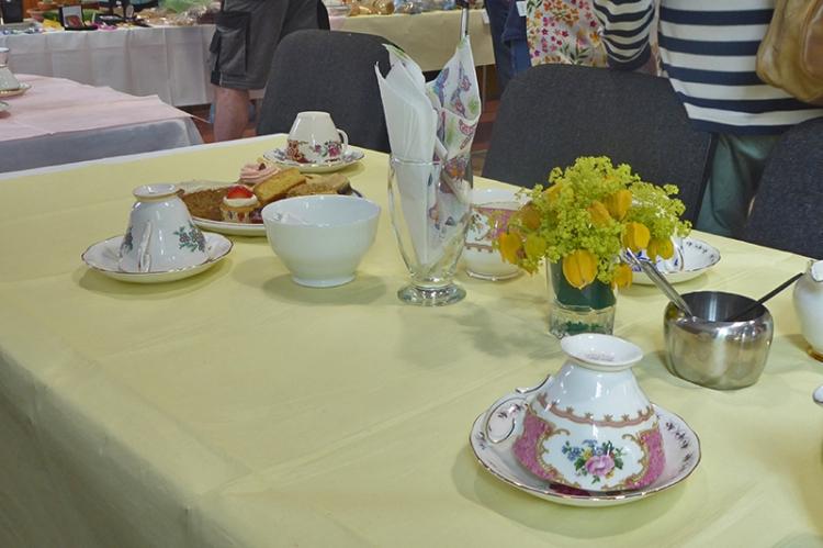 waterbeck cream tea table
