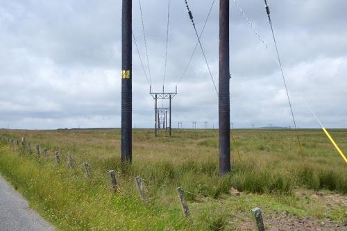 windmill power line