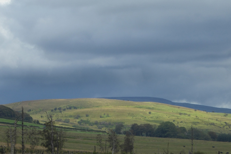 cloudscape looking back to langholm