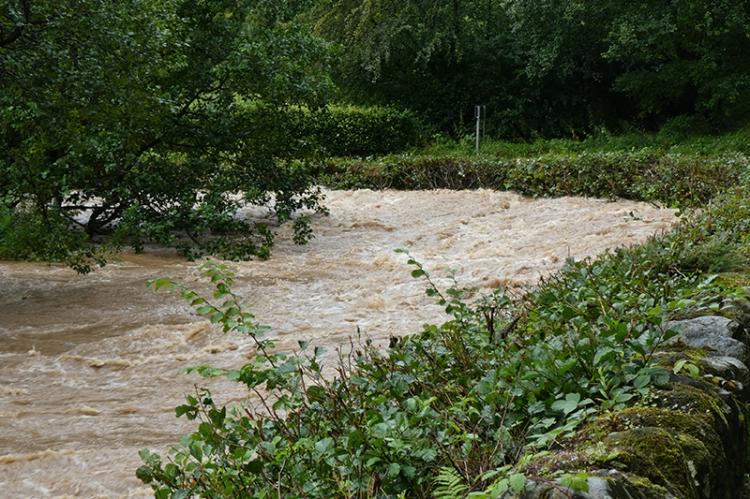 flood at pool corner