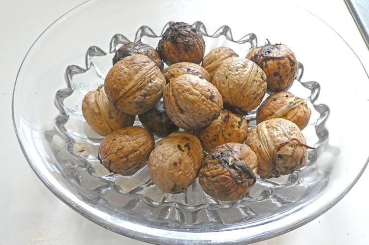 dish of walnuts