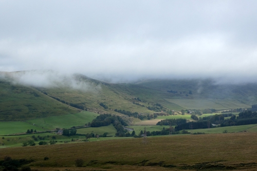 ewes valley misty hilltops