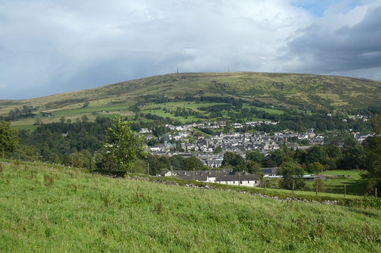 view of langholm from Meikleholm