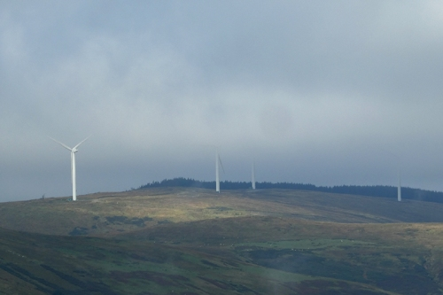 wind turbines in low cloud