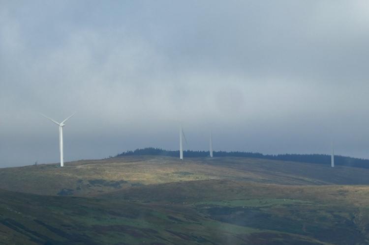wind turbines in low cloud