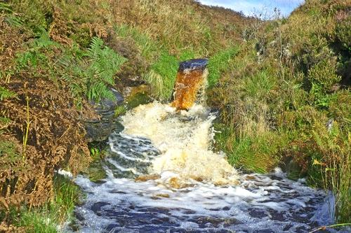 Langholm Moor burn cascade