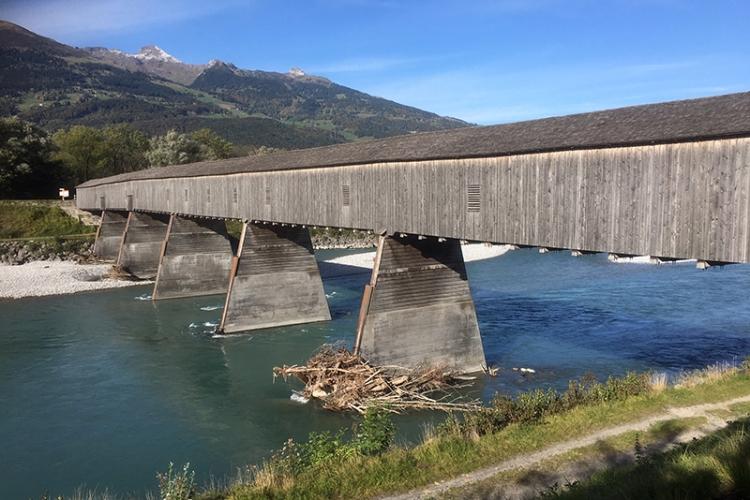 Swiss border bridge