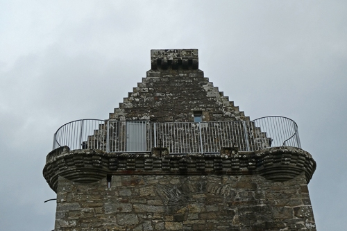 Gilnockie Tower balcony