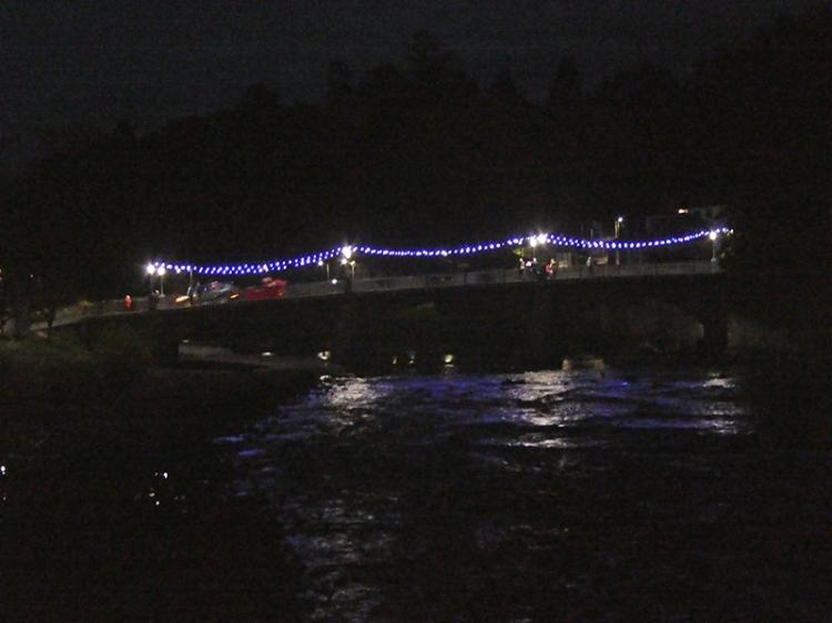lights on bridge