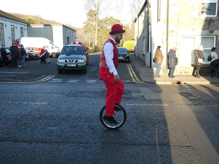 unicycle santa