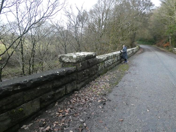 byreburn bridge with Mrs t