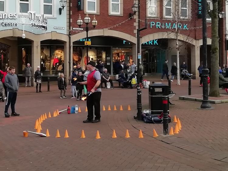 Carlisle Christmas fun juggler