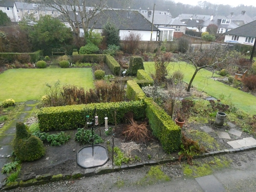 dull day garden