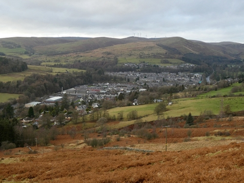 Langholm from pylon track
