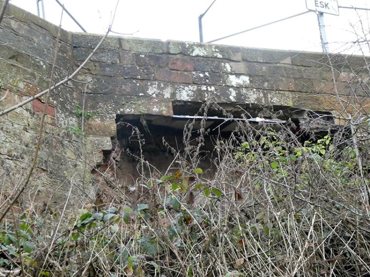 Longtown bridge collapse