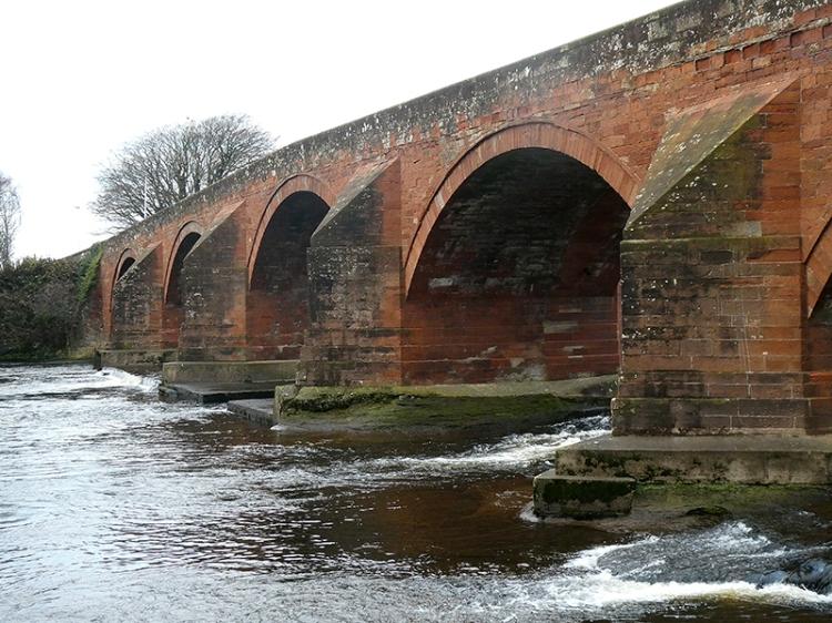 Longtown bridge piers