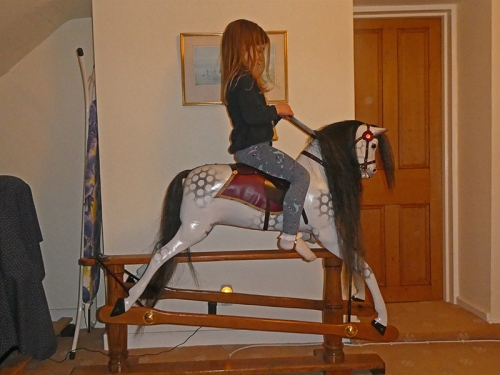 matilda on rocking horse 1