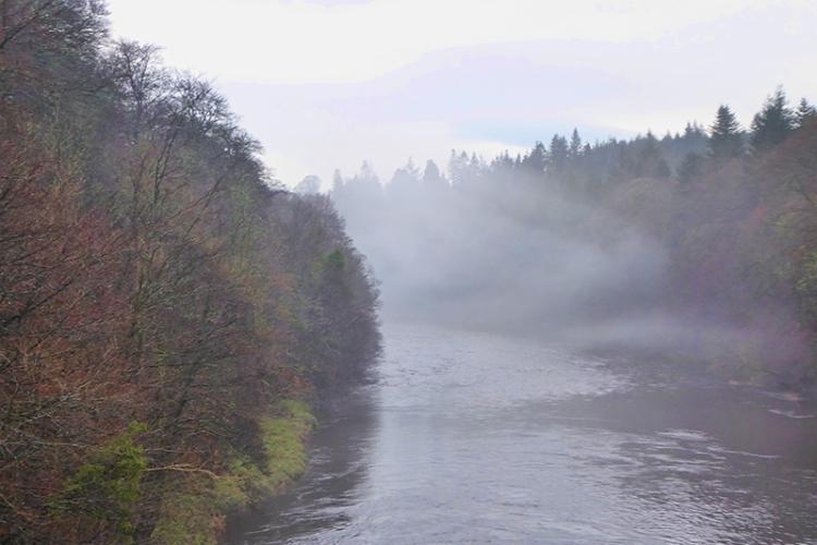 mist from Skippers Bridge