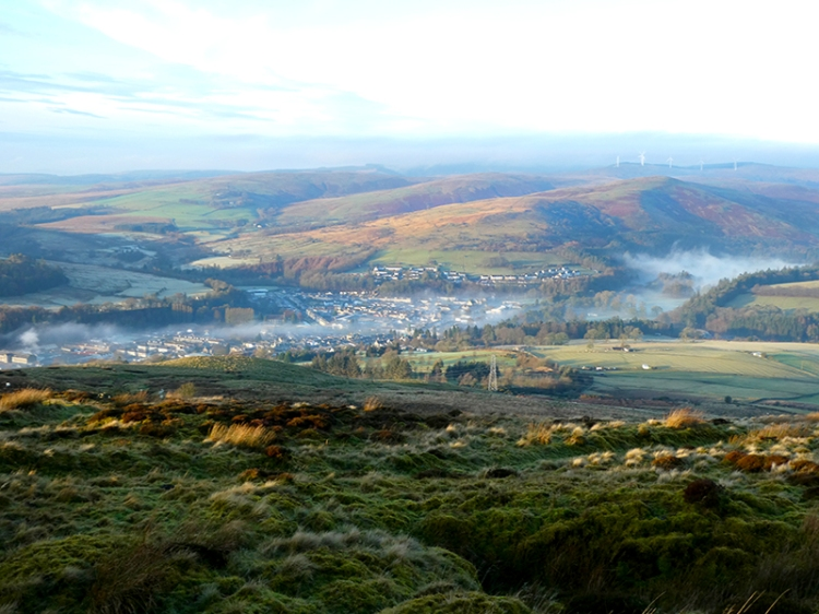 mist over whole town
