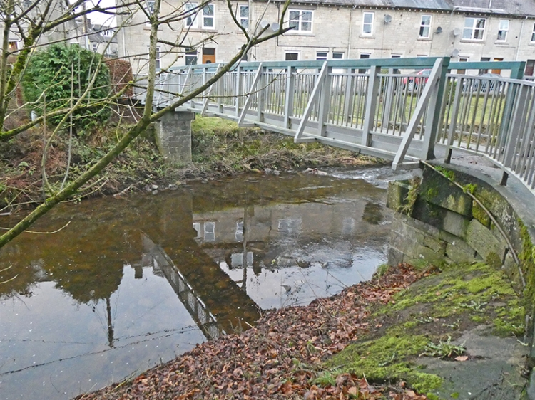 reflective park bridge