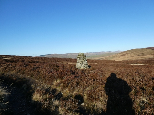 second cairn on castle craigs track
