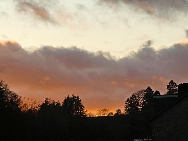 sunset over eskdaill street