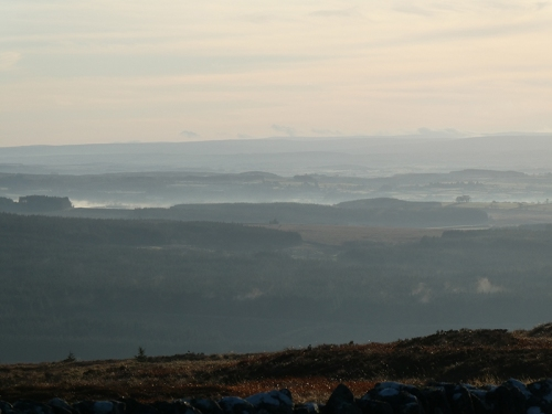 view over misty england