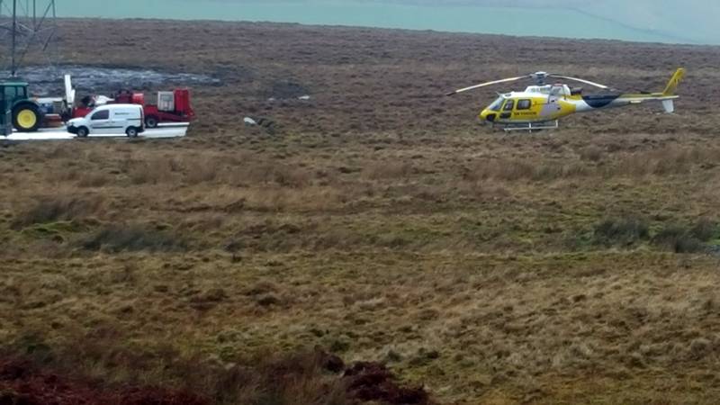 helicopter at pylon