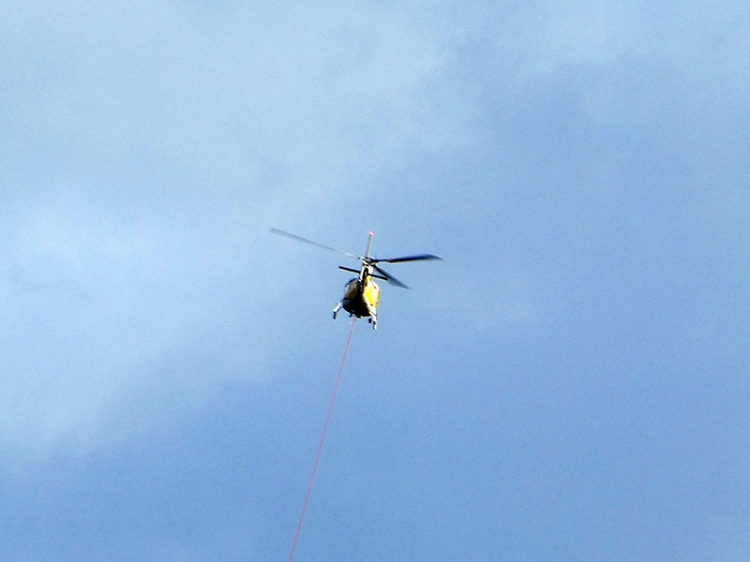 helicopter going