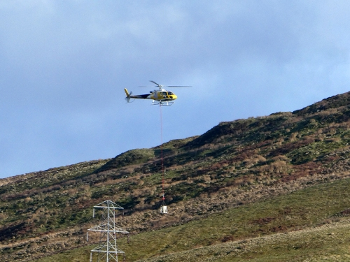 helicopter returning