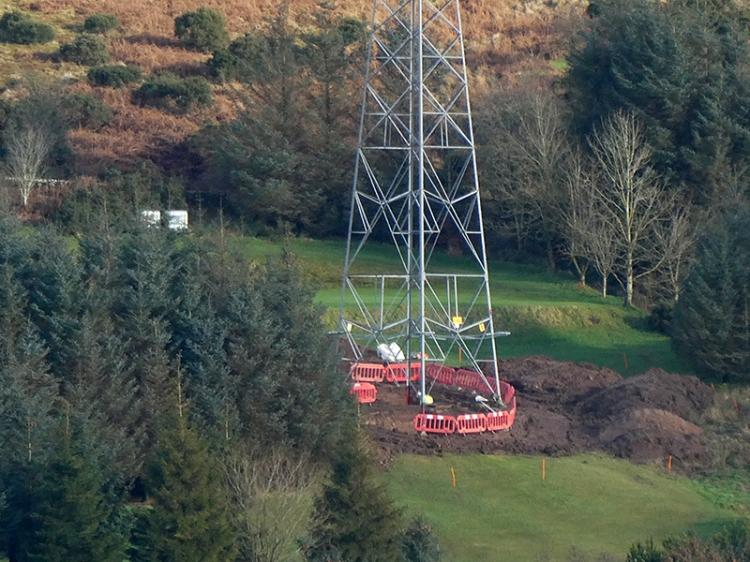 pylon on golf course