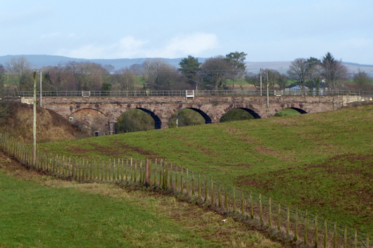 railway viaduct near eaglesfiled