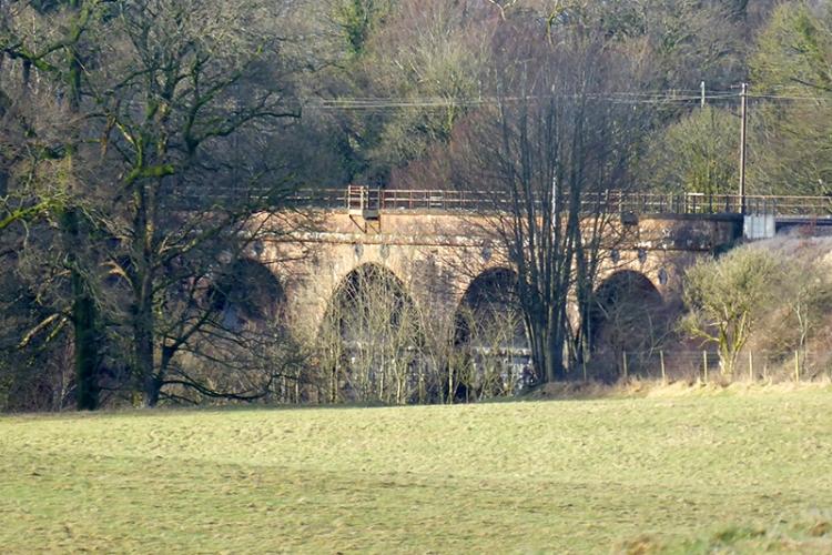 railway viaduct water of milk