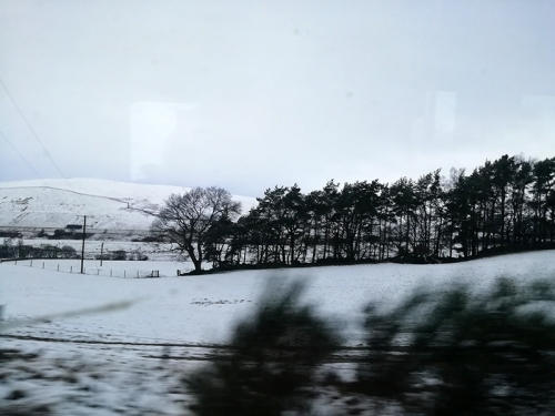 snow on train to edinburgh