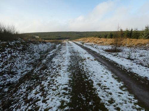 snow on westwater track