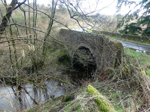 bridge at top of Byre Burn