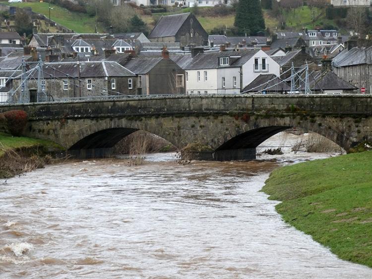 kirk bridge wet day