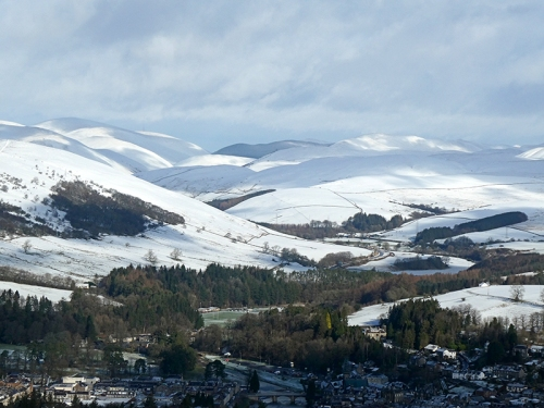 Langholm and ewes valley snow