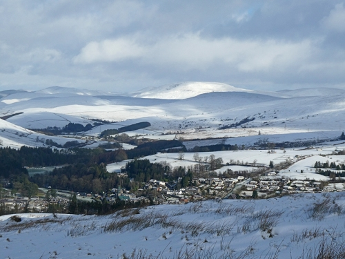 langholm sun and clouds snow
