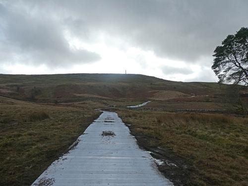metal road for pylon repair