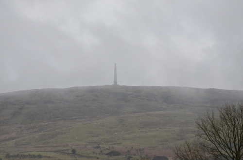 monument in mist