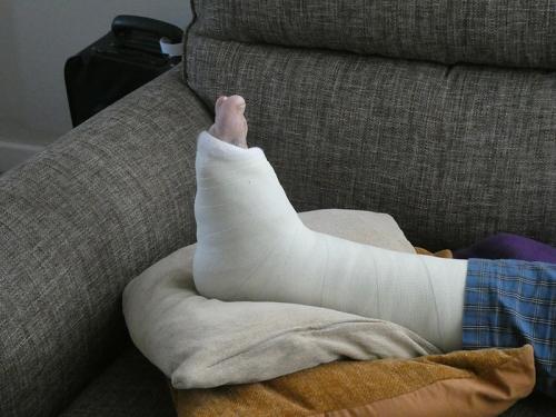 sandy's foot