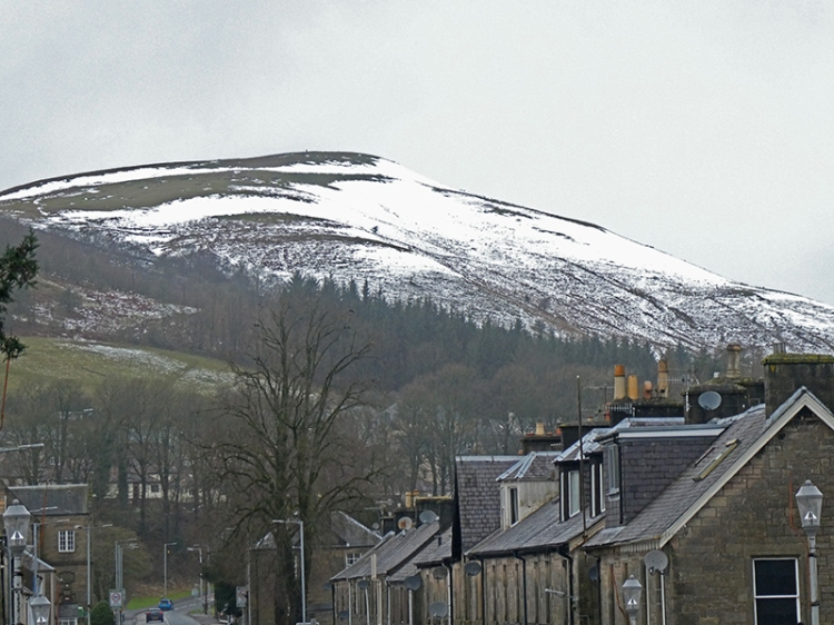 snow melting off timpen