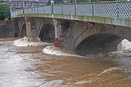 storm ciara langholm bridge