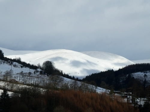 view over holmwood snow