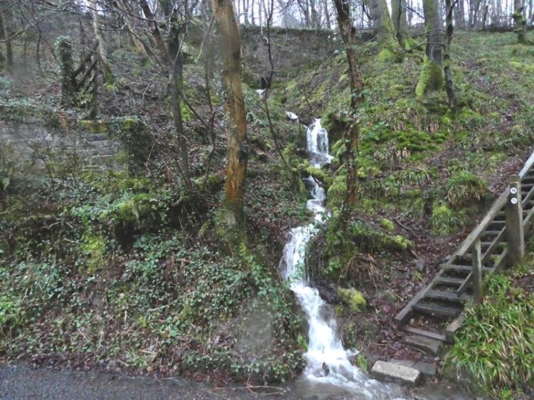 waterfall at Skippers